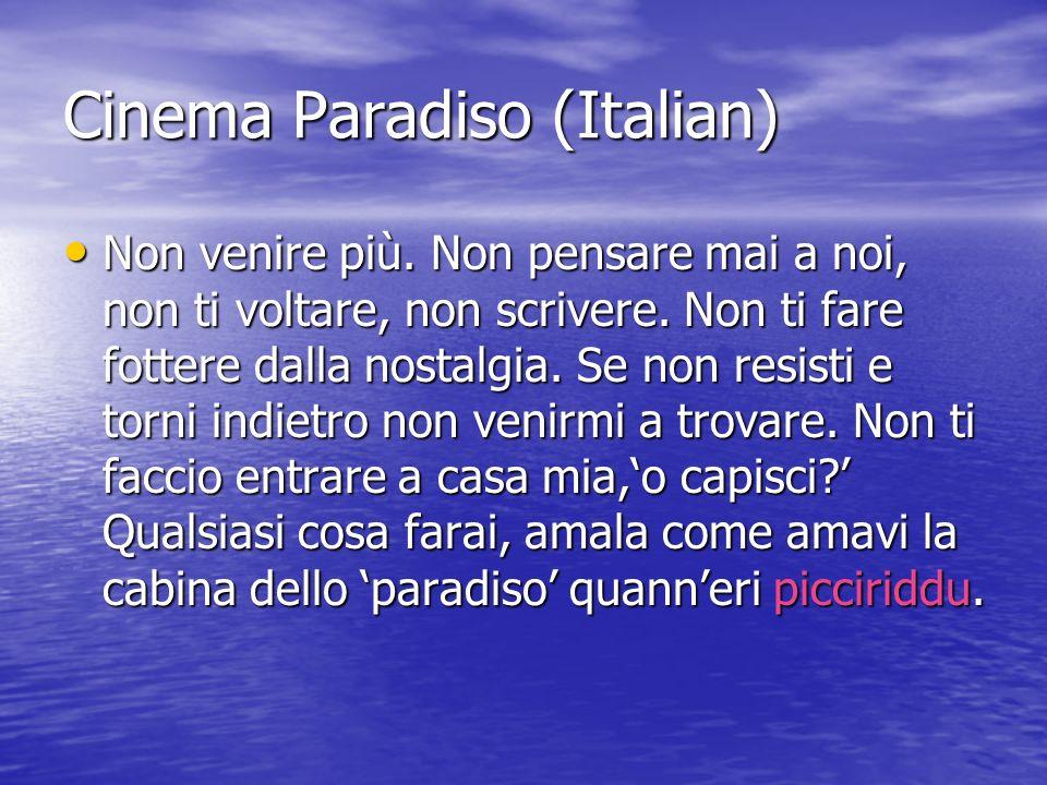 Cinema Paradiso (Italian)