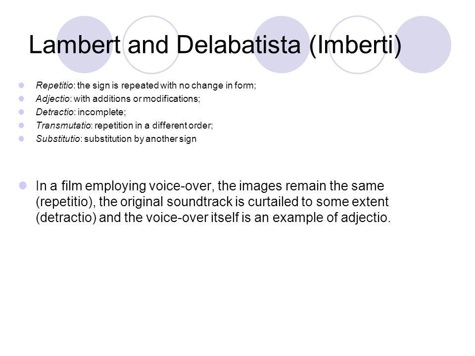 Lambert and Delabatista (Imberti)
