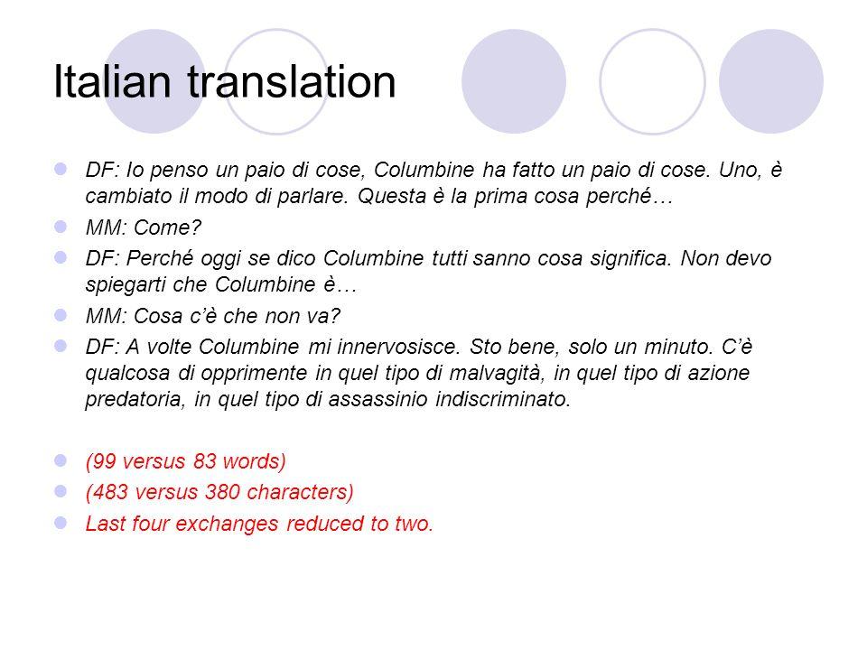 Italian translation