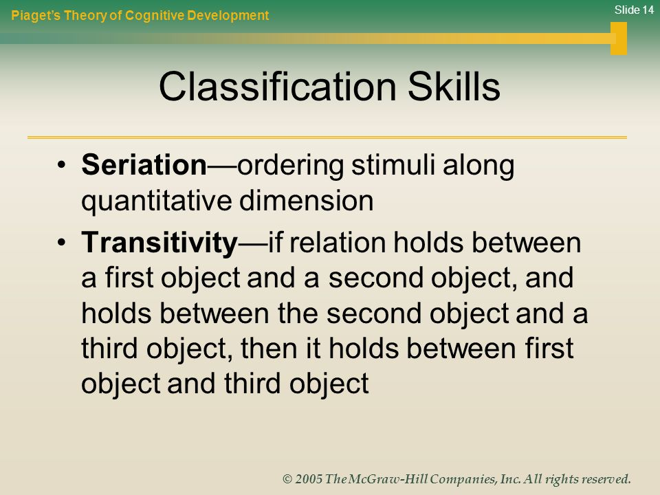 Classification Skills