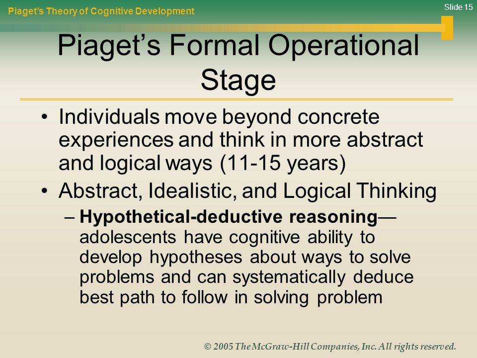 Piaget's Formal Operational Stage