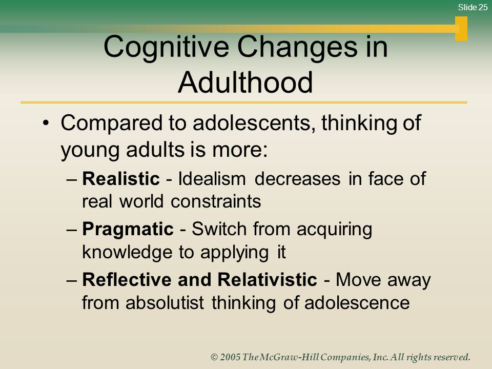Cognitive Changes in Adulthood