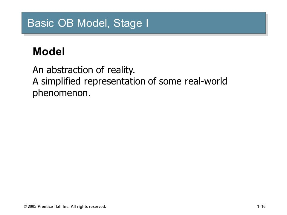 ob model stage 2 Basic ob model, stage ii human output hr policies & practices organization system level org culture org structure & design change & stress.