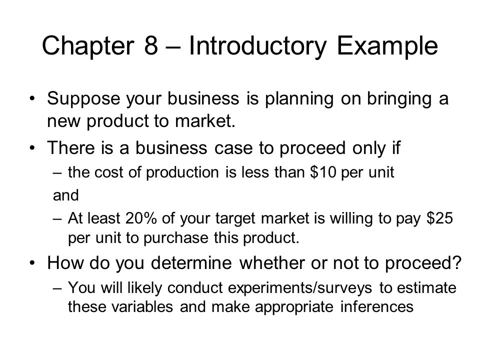 Chapter 8 – Introductory Example
