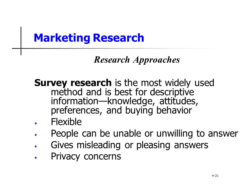 Marketing Research Research Approaches