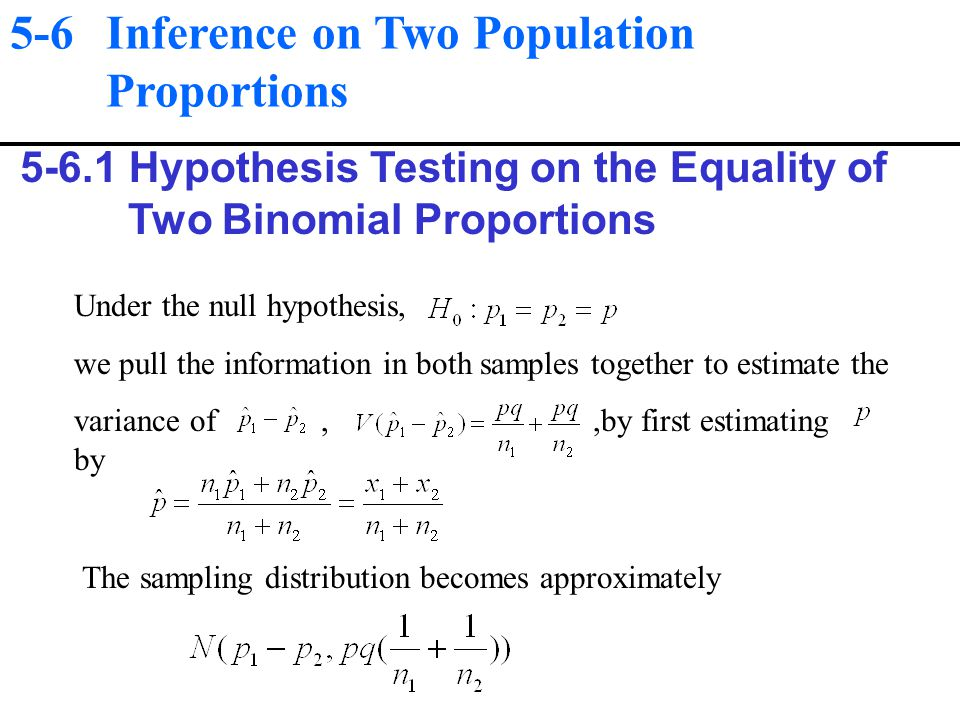 statistics and proportion binomial test The binomial test is a non-parametric test for a difference in proportion between a sample and hypothesised proportion the requirements of the test are: a dichotomous sample measured on a nominal or ordinal scale.