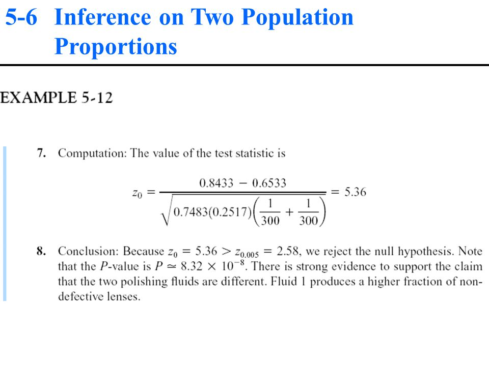5-6 Inference on Two Population