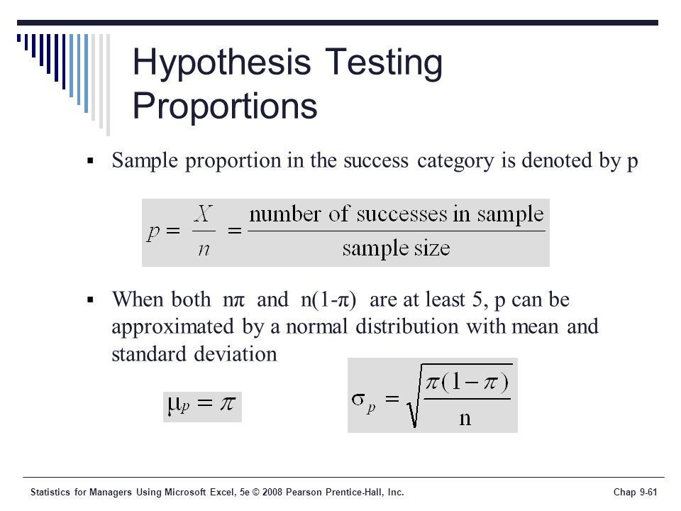 Hypothesis Testing Proportions