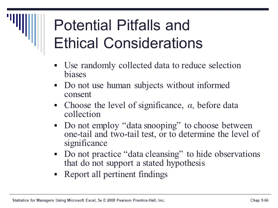 Potential Pitfalls and Ethical Considerations