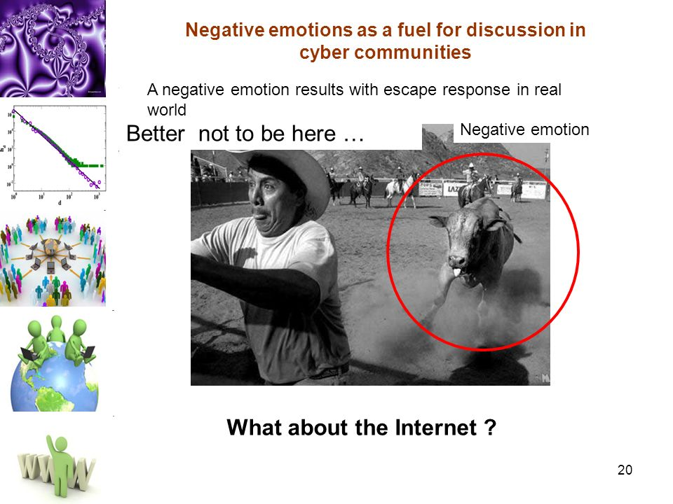 Negative emotions as a fuel for discussion in cyber communities