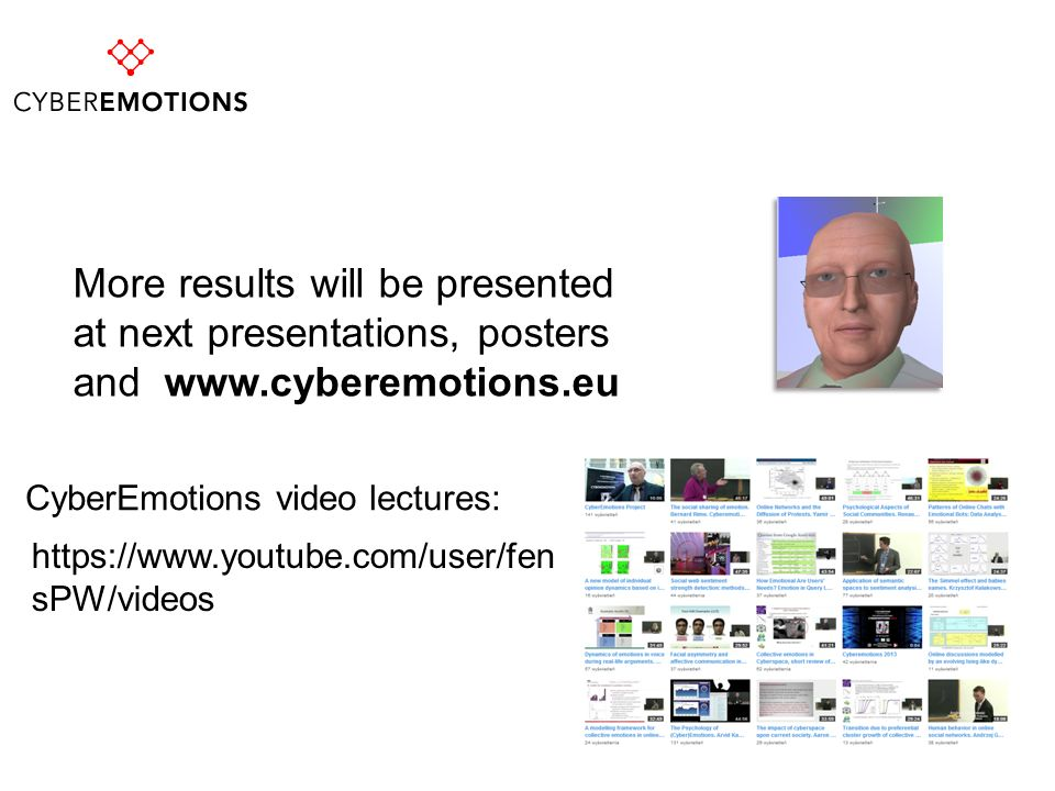 CyberEmotions video lectures:
