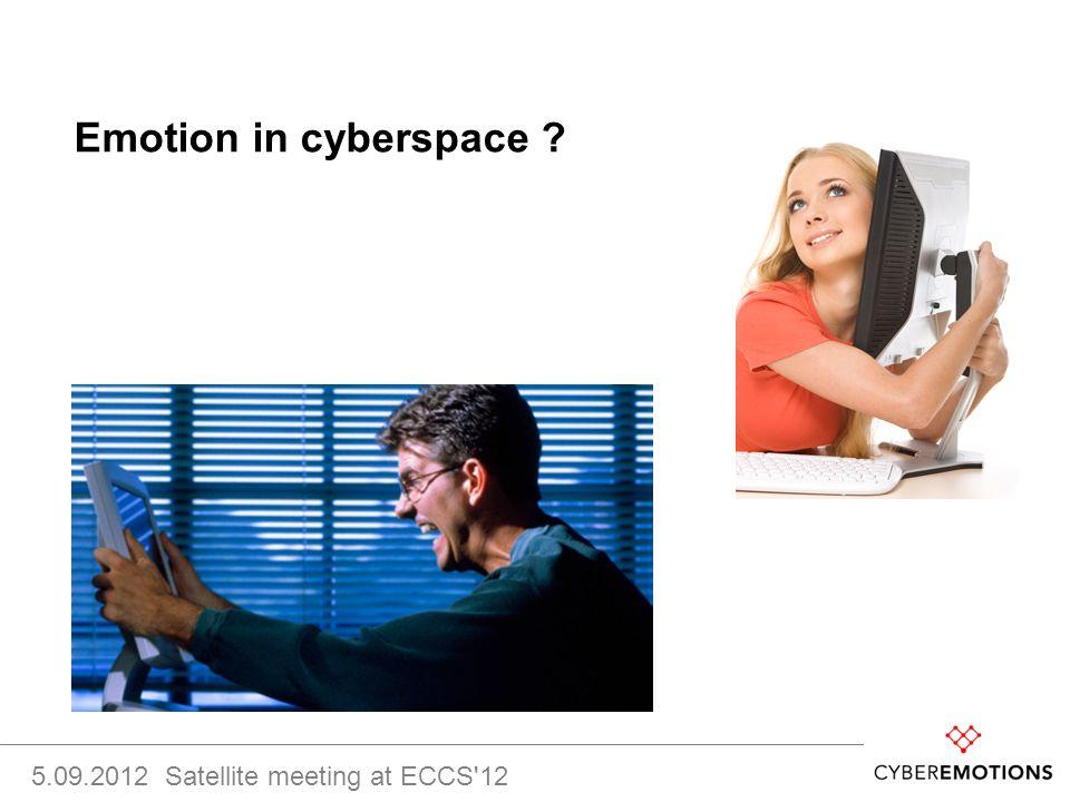 Emotion in cyberspace 5.09.2012 Satellite meeting at ECCS 12