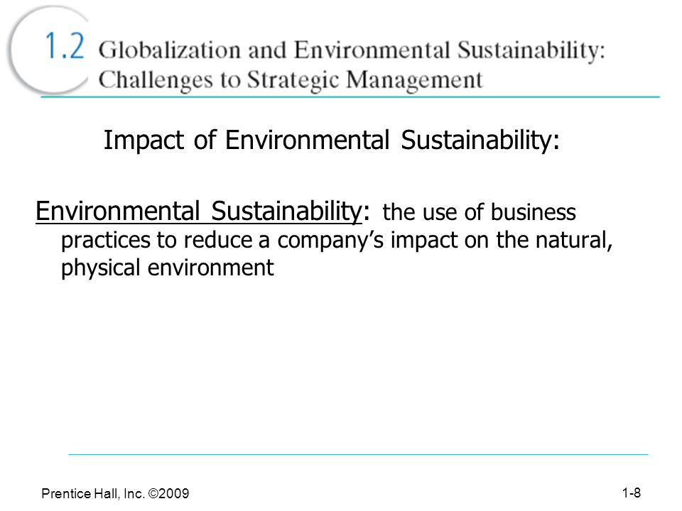 Impact of Environmental Sustainability: