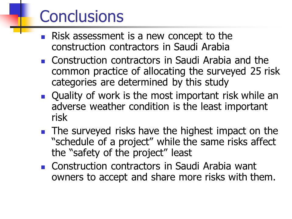 Risk management in construction essay