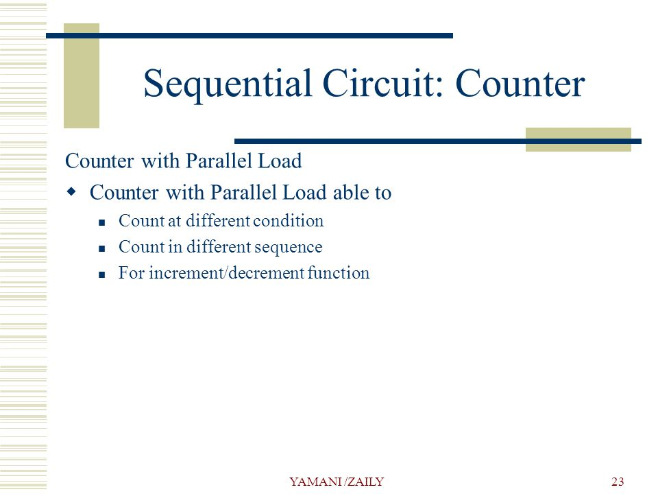 Sequential Circuit: Counter