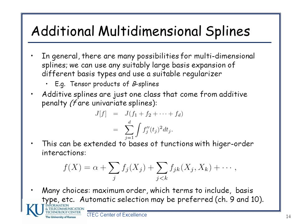 Additional Multidimensional Splines