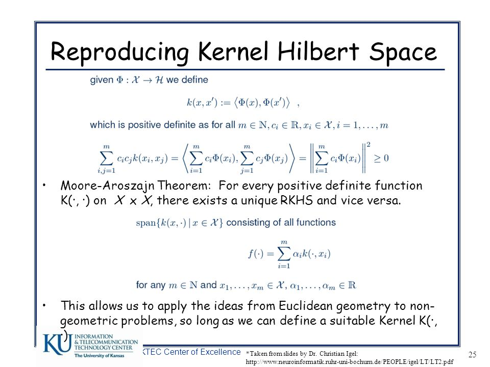 Reproducing Kernel Hilbert Space