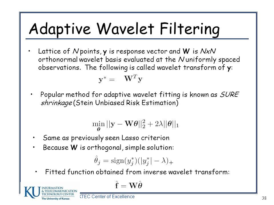 Adaptive Wavelet Filtering
