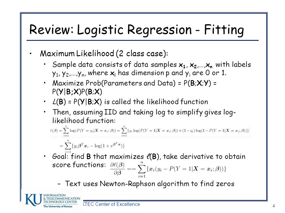 Review: Logistic Regression - Fitting