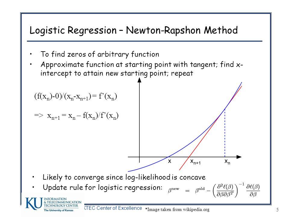 Logistic Regression – Newton-Rapshon Method