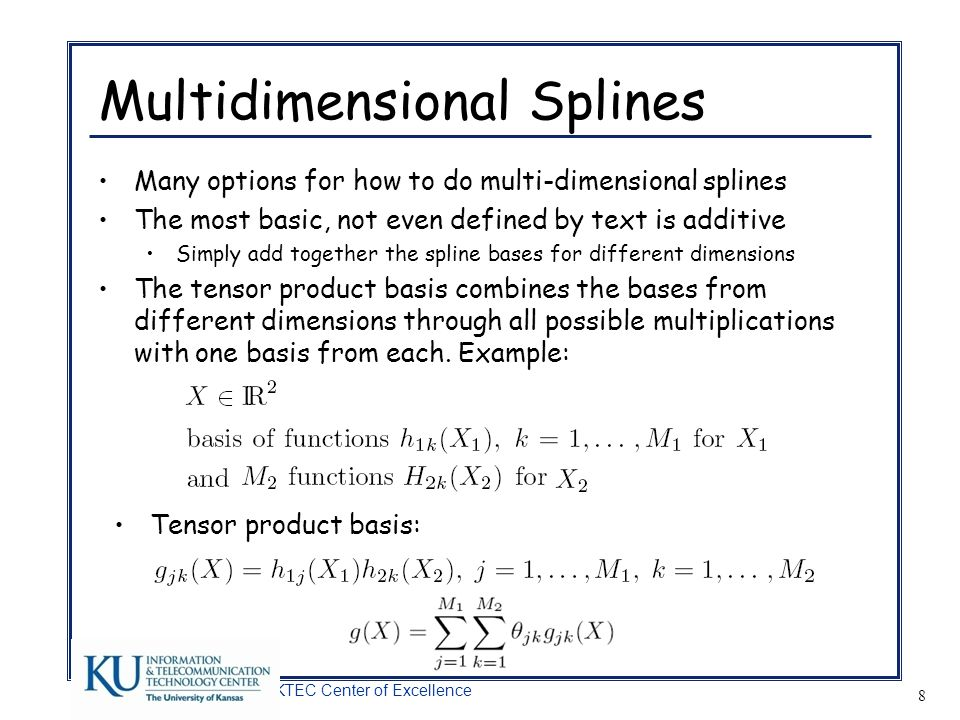 Multidimensional Splines