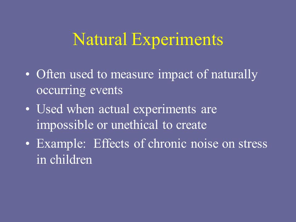 Unethical Natural Science Experiments