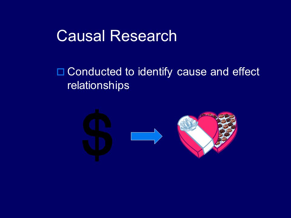 cause and effect relationship study
