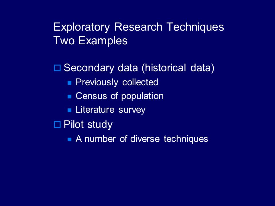 exploratory research examples John w tukey wrote the book exploratory data analysis in of empirical data, review of research in data analysis: principles and examples, crc.