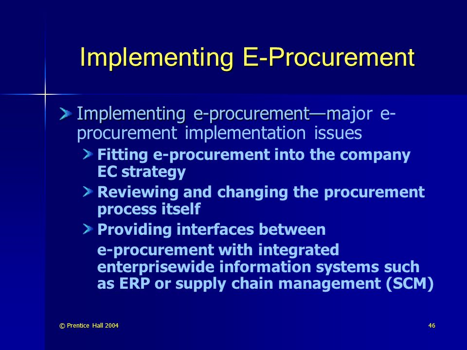 implementing a successful e procurement strategy Following the recommendations of the world bank e-procurement strategy for   a project in this sort of way then this is a good implementation strategy.
