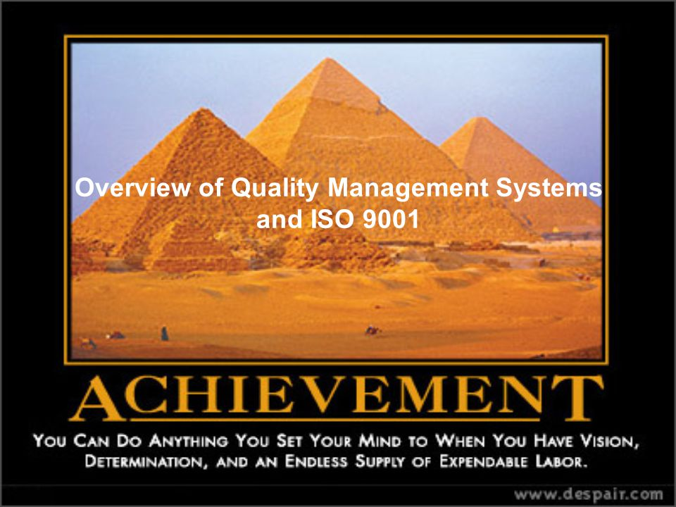 Overview Of Quality Management Systems And Iso Ppt Download