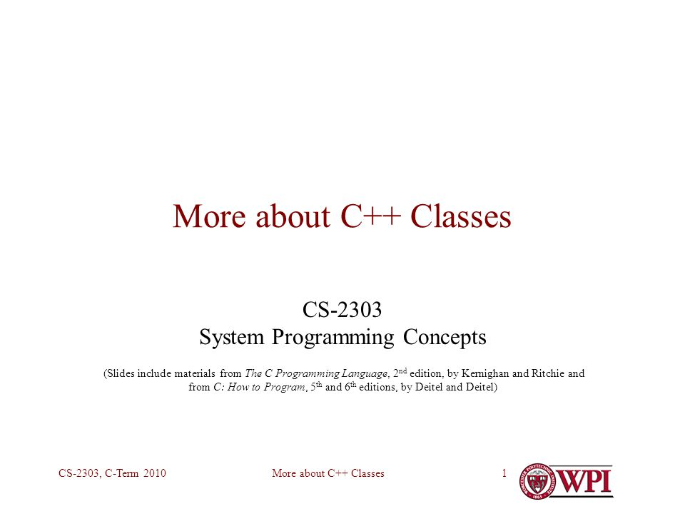 CS-2303 System Programming Concepts