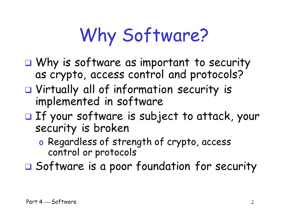 software important to security essay It's important to remember that encryption doesn't magically convey security there are many ways to get encryption wrong, and we regularly see them in the headlines encryption doesn't protect your computer or phone from being hacked, and it can't protect metadata, such as e-mail addresses that need to be unencrypted so your mail can be delivered.
