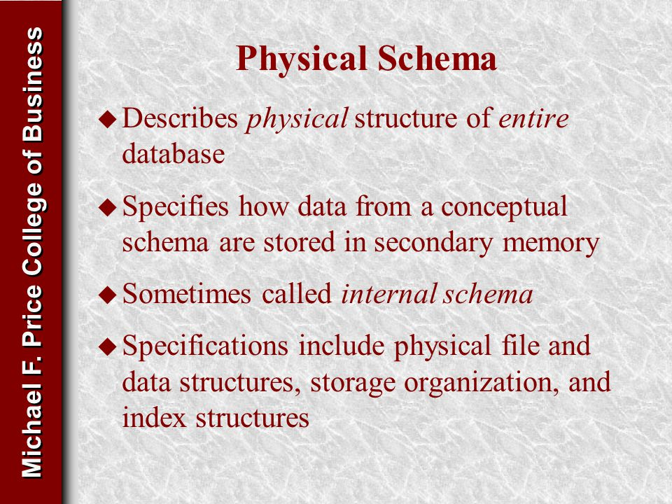 Physical storage structures and types of