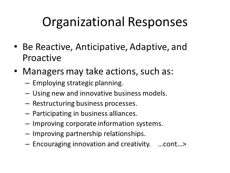 relationship among business pressures organizational responses and information system