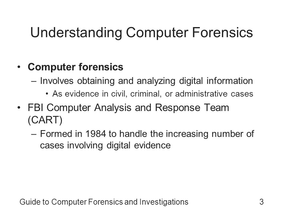 guide to computer forensics and investigations case project 1 3 Unit 1 case project:  unit 3 case project: 4-1 your supervisor has asked you to research current  a practical guide to computer forensics investigations:.