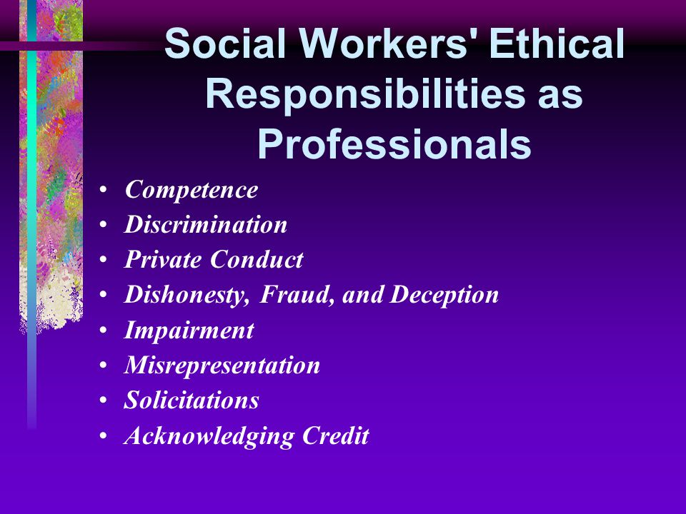 conflict of interest and discrimination in diversity social work essay Conflicts of interest can cause an employee to act out of interests that are divergent from those of his or her employer or co-workers in workplaces, employees want to avoid any behavior or choices that could potentially signal a conflict of interest.