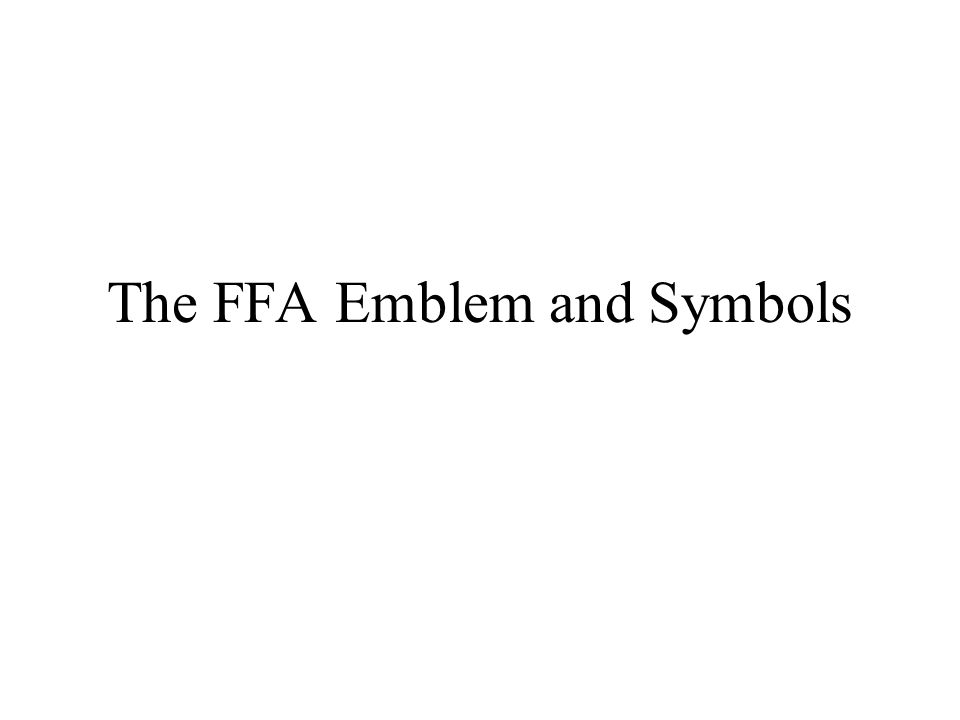 FFA Emblem Symbol Terminology, One Step Worksheet Downloads - One ...