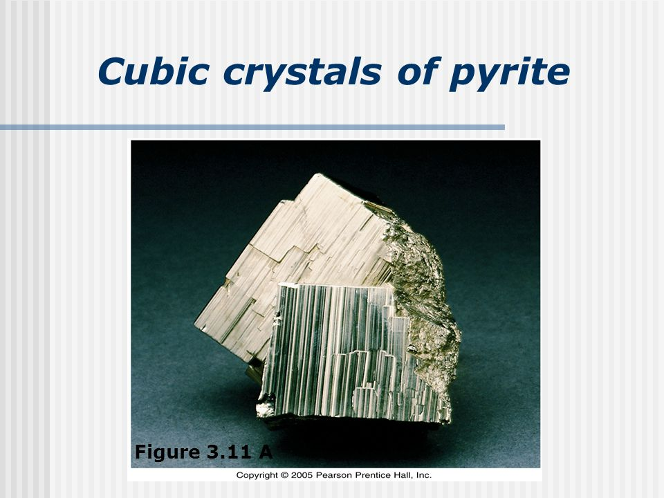 Cubic crystals of pyrite