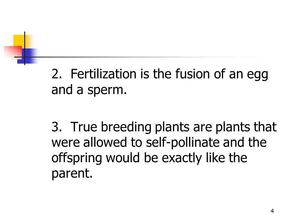 2. Fertilization is the fusion of an egg and a sperm.