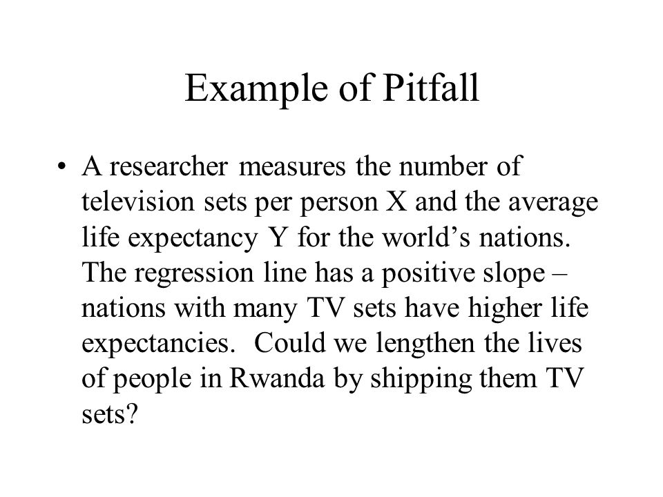 Example of Pitfall