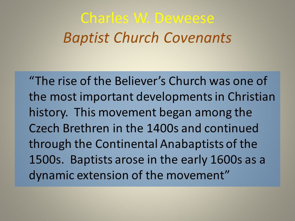 a closer analysis of the german baptist group brethren Academic journal article mennonite quarterly review  the old german baptist  brethren regulate their forms of spiritual and cultural life through a procedurally.