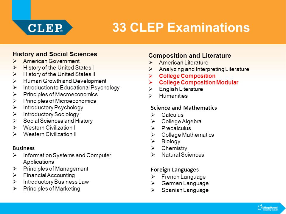 clep what every test center administrator needs to know ppt 33 clep examinations history and social sciences