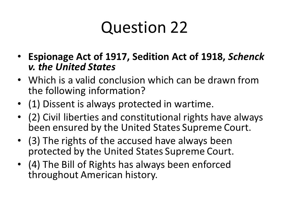 the espionage act violations in the united states throughout the history The patriot act was passed by the united states congress just 45 days   passed the alien and sedition acts during the john adams administration  on  the american mind, to see how far it will bear an avowed violation of the  constitution.
