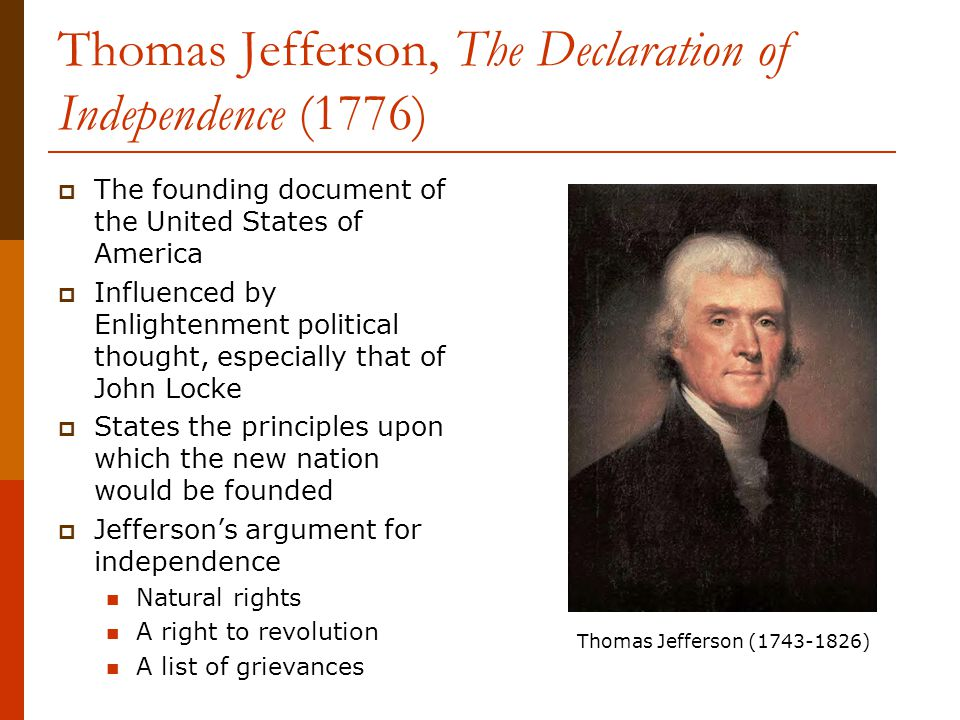 an argument against thomas jeffersons republican ideals Thomas jefferson born: 13-apr-1743 hamilton used his influence in favor of jefferson as against burr jefferson's ideals were high.