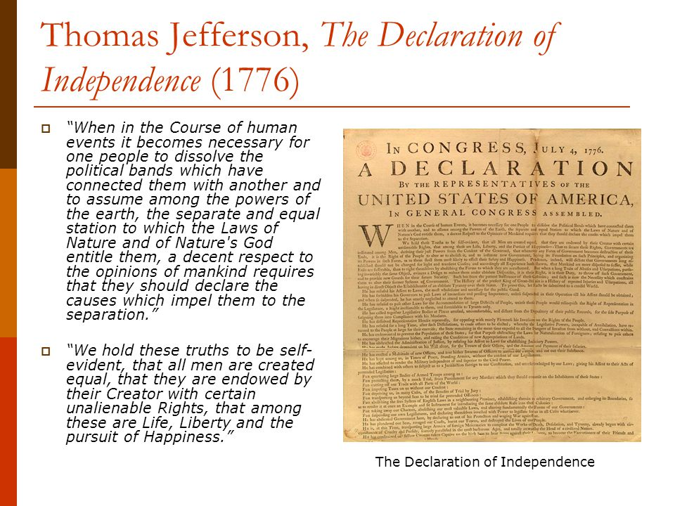 """thomas jefferson the emancipator of the declaration of independence of america With five simple words in the declaration of independence—""""all men are as a wouldbe emancipator dark side of thomas jefferson."""