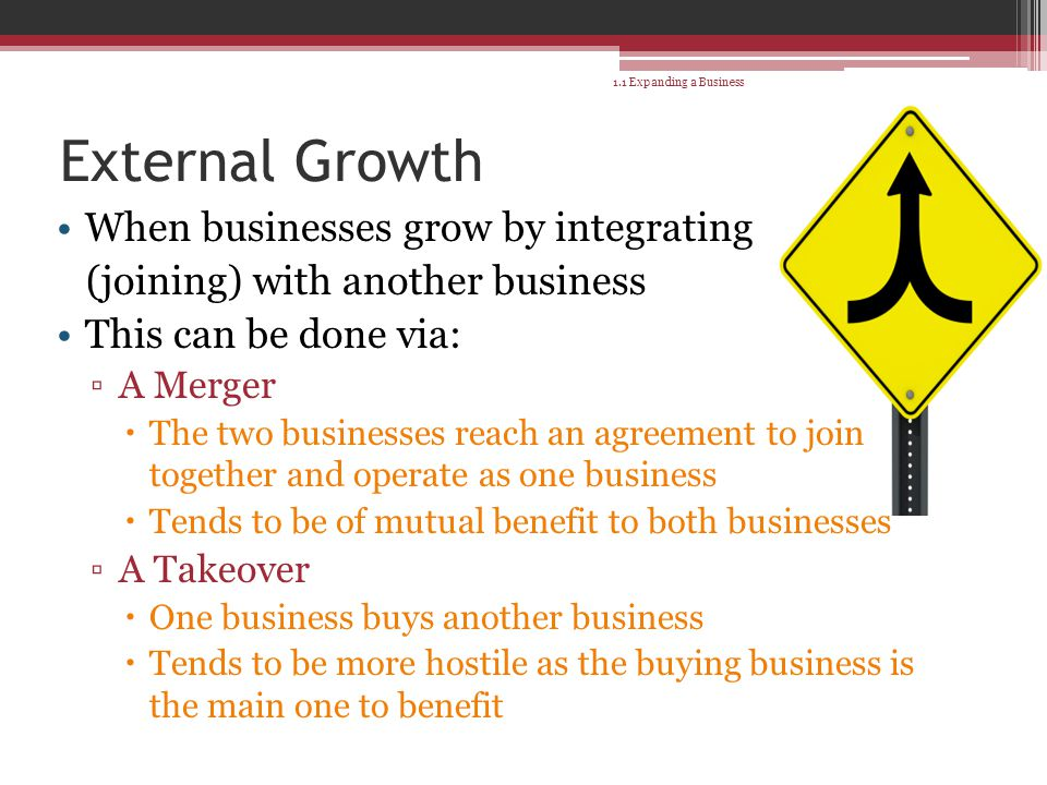 external growth for a business Companies can deliver revenue growth through mergers and acquisitions (m&a)  or retrench business through divestitures these external means of revenue.