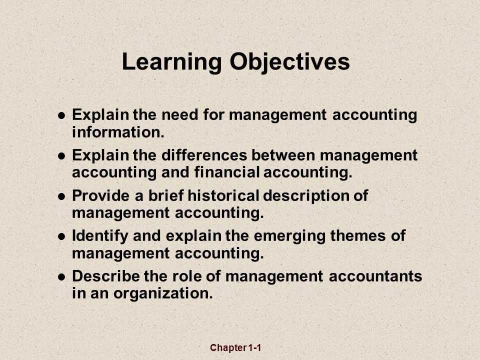 objectives of an accountant