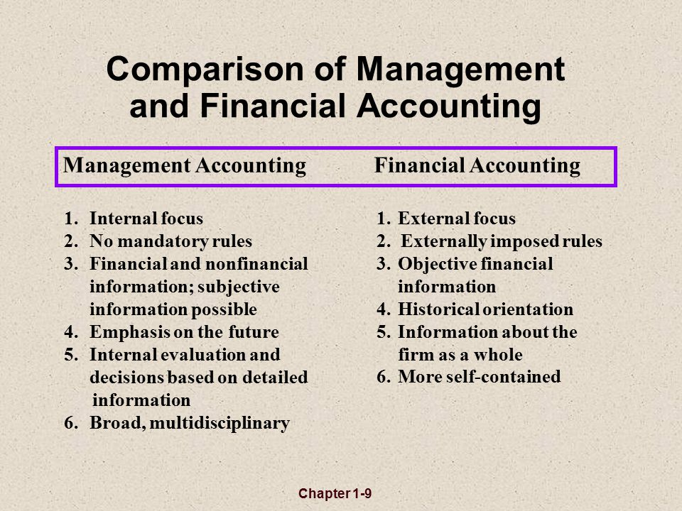 financial accounting subjective not objective accounting essay Relevance of data: financial accounting data are expected to be objective and verifiable however, for internal use the manager wants information that is relevant even if it is not completely objective or verifiable.