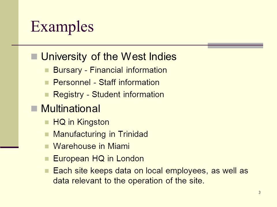 Examples University of the West Indies Multinational