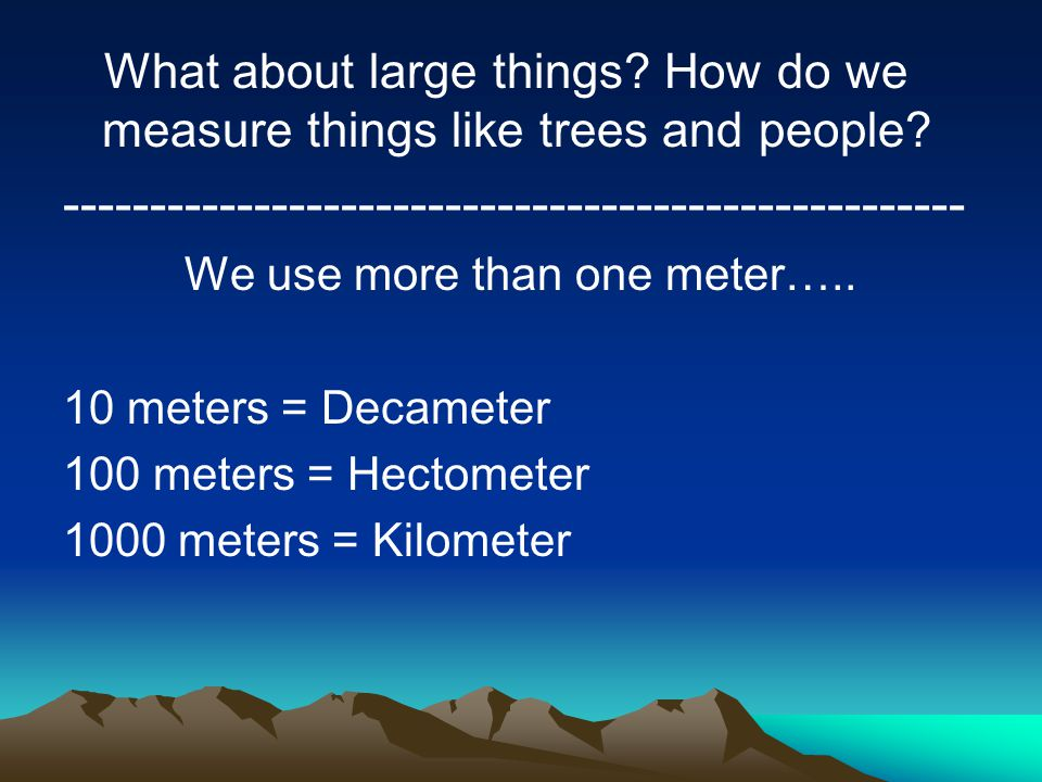 Measuring with metrics ppt video online download for What do we use trees for